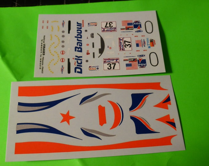 1:43 decals for Reynard Judd 01Q-LM LMP675 Dick Barbour Le Mans 2001 #37 Graham/Duno/Murry