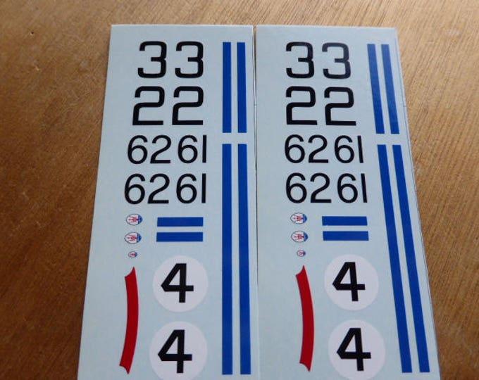 high quality 1:43 decals Maserati Tipo 151 Le Mans 1962 #2/3/4 + Bridgehampton '62 #61/62  Madyero by Remember TK109