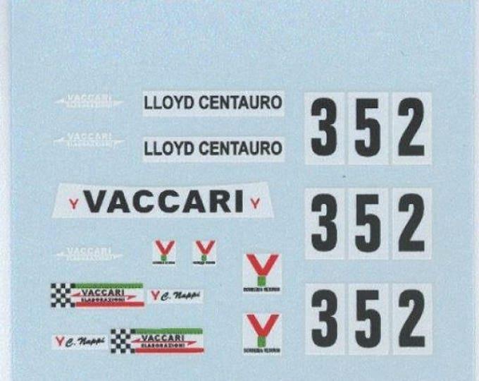 high quality decals Fiat 128 Gr.2 Vaccari #352 Trofeo Castagneto Varano 1975 Ciro Nappi Carrara Models 1:43