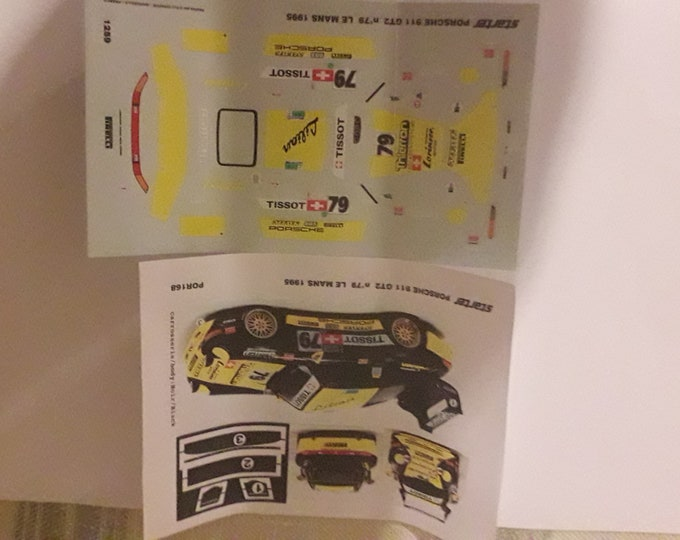 1:43 decals for Porsche 911 (993) GT2 Lilian Le Mans 1995 #79 Starter