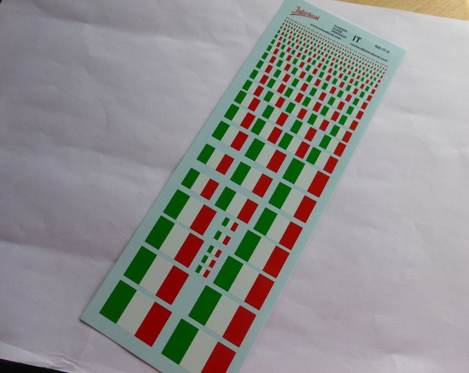 decals with Italian flags various scales Tin Wizard NA-IT-0