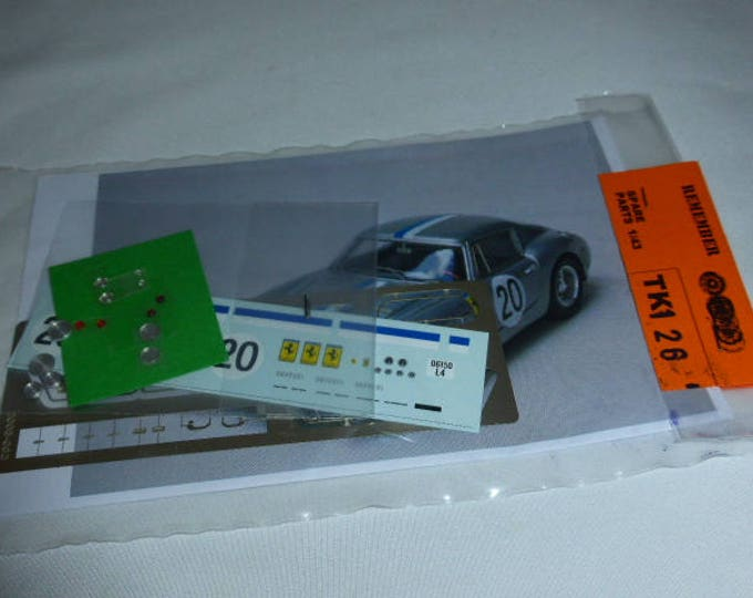 multimedia 1:43 transkit (photoetches, lights, decals etc) for Ferrari 250 GT SWB Le Mans 1961 #20 Madyero TK126