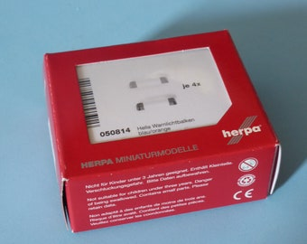 Set of Hella Warnlichtbalken (4x blue and 4x orange with white support) Herpa 050814 H0 1:87