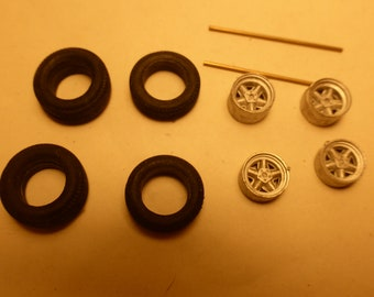 white metal 5-spoke wheels for Porsche sportscars of the 60/70s, Formula 1 cars of end-60s etc Remember W45 1:43