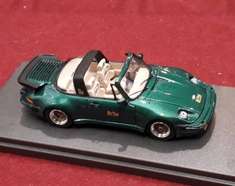 Porsche 911 Turbo Targa Buchmann Special 1980 metallic green with cream interiors REMEMBER Models 1:43 - Factory built