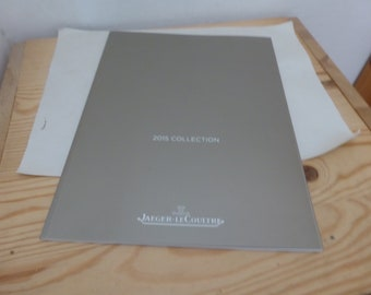 Jaeger - Le Coultre wristwatches luxury 2015 catalogue English edition / Perfect conditions