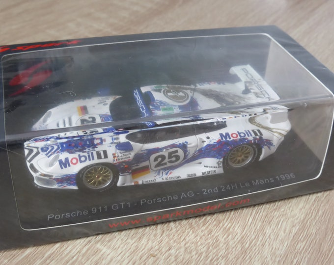 Porsche 911 GT1 Le Mans 1996 #25 Stuck/Wollek/Boutsen Spark S5602 still sealed 1:43 SHIPPING OFFERED