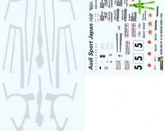 high quality 1:24 decals sheet Audi R8 Team Goh Le Mans 2002 #5 Le Mans Miniatures DCA124062