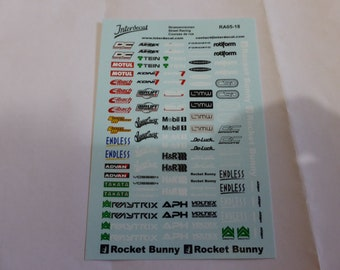 decals for racing, tuning rare logos of Japanese companies and enterprised (see photos) 1:18 scale Interdecal RA05-18