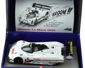 Peugeot 905 Ev1-Bis Le Mans 1992 car #5 or #6 (your choice) Le Mans Miniatures slot car 1:32 132075/5M or 132075/6M