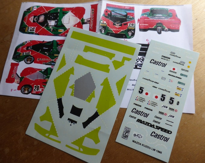 1:43 decals for Mazda Kudzu WSC Le Mans 1995 #20 Terada/Downing/Freon Provence Moulage