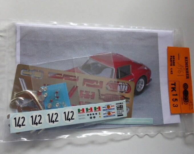 multimedia 1:43 transkit (photoetches, lights, decals etc) for Ferrari 250 GT SWB Tour Auto 1961 #142 Madyero TK153
