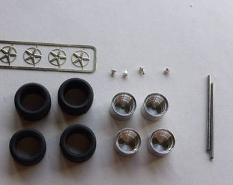 turned and photoetched Gotti Gr.4 wheels set for Porsche 911 / 934 etc. track and rally cars Madyero by Remember W103 1:43