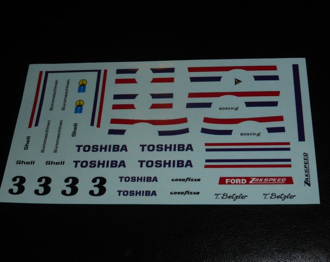 high quality 1:43 decals Ford Escort MkII Gr5 Toshiba DRM 1977 Thomas Betzler Remember TK281