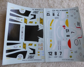 1:43 decals for Porsche 956 Gr.C Joest-New Man Le Mans 1984 #7/8/12 Starter