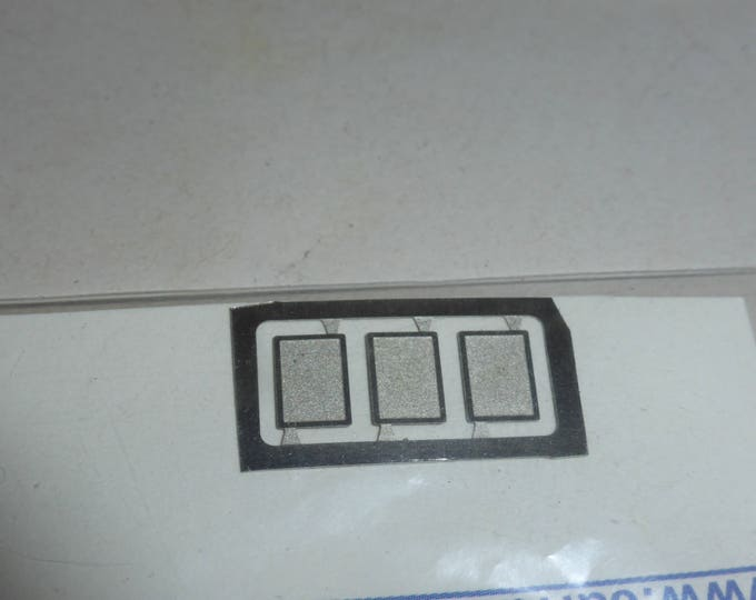 high quality photoetched registration plates supports for 1:43 scale models Carrara SP71 (pack of 3 pcs)
