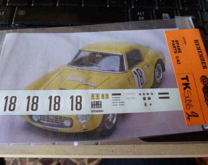 high quality 1:43 decals Ferrari 250 GT SWB Le Mans 1960 #18 Madyero by Remember TK-SWB2