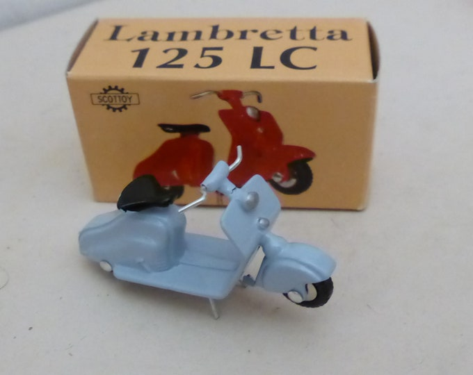 Lambretta 125LC Carenata light blue - Scottoy limited edition model 1:43 - Brand new in box