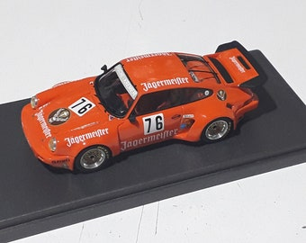 Porsche 911 Carrera RSR Jagermeister 1000km Monza 1975 #76 Kelleners/Heyer Madyero by Remember 1:43 Factory built