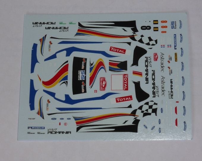 1:43 decals for Ford Fiesta RS WRC Visit Romania Rally Monte Carlo 2012 #8 Delecourt Provence Miniatures