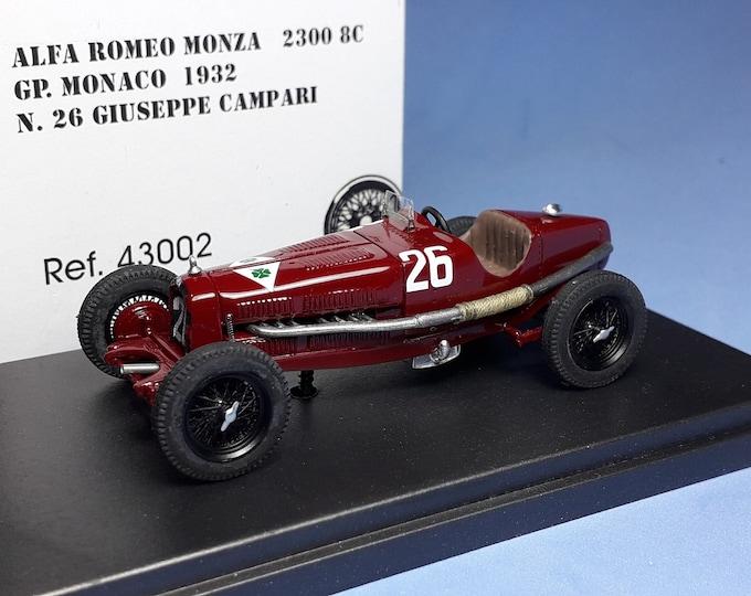 ALFA ROMEO 2300 8C Monaco Gp 1932 Giuseppe Campari - REMEMBER Models 1:43 - Factory built