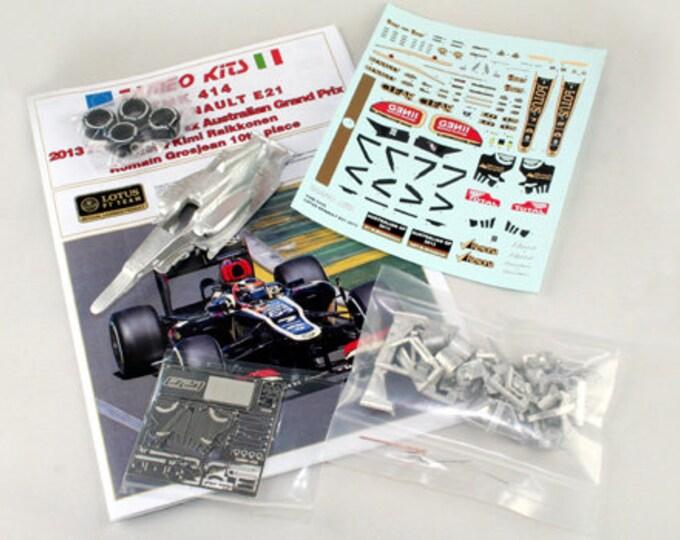 Lotus Renault E21 Formula 1 Australian GP 2013 Raikkonen / Grosjean TAMEO Kits TMK414 1:43