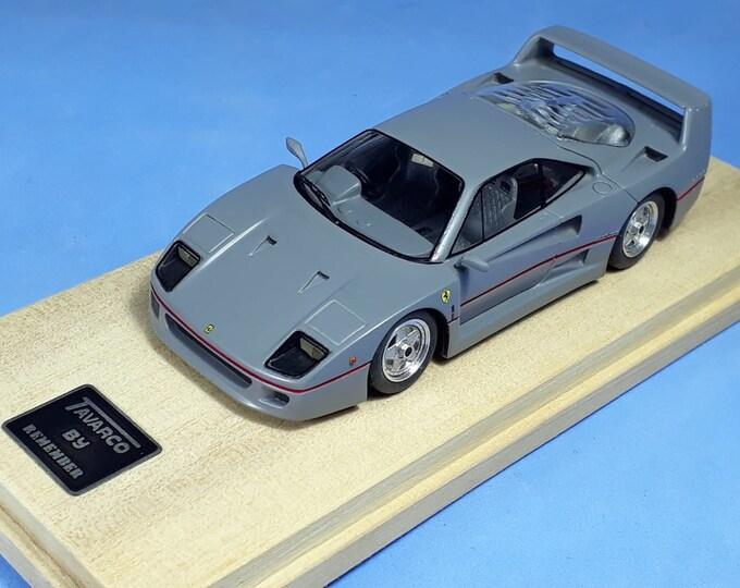 Ferrari F40 Right hand drive Sultan of Brunei 1:43 BBR built by Remember Models studio