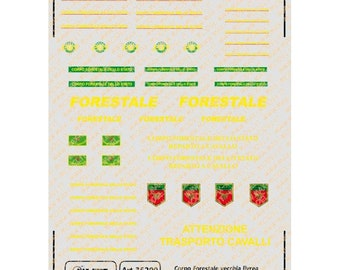 1:43 decals for Corpo Forestale dello Stato old liveries (Italy) cars, trucks and other vehicles Max Model #35200