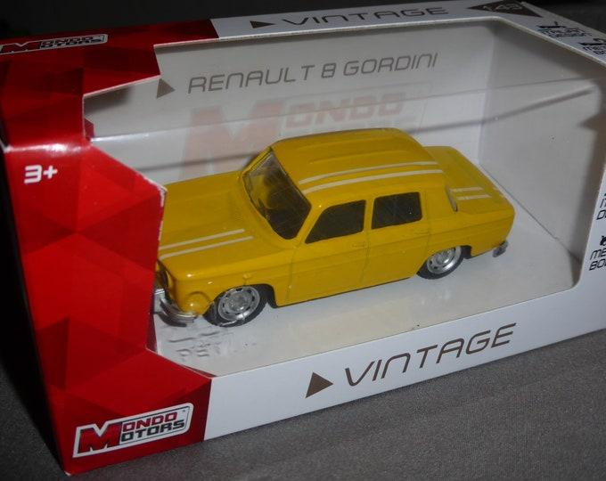 Renault R8 Gordini yellow - Mondo Motors Vintage range - Die cast model 1:43 - Brand new in box
