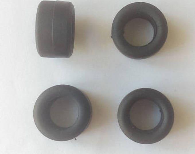 Set of 4 tires, slick - Model car accessories - Scale model tires - 1 43 tires - 8,3x13,8x8,2mm - #43116