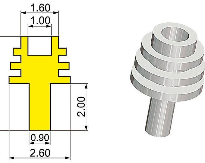 1:43 machined aluminium driveshaft cowlings type-B (4 pieces) Tameo PG14
