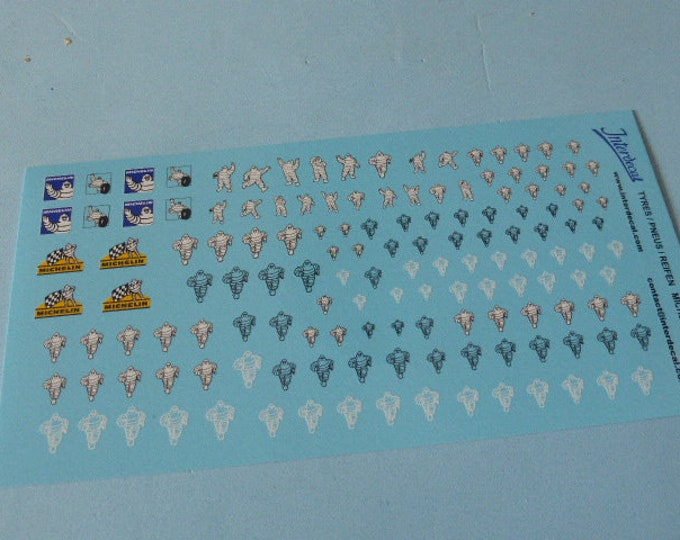 decals with M ichelin logos various colours and shapes 1:24 scale Tin Wizard PN2-24-1
