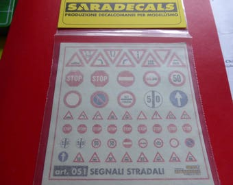high quality 1/24 decals for Italian road signs (two sizes, including 1/43 size) Saradecals printing