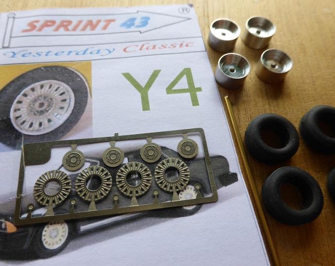 top quality  wheels set for Alfa Romeo Spyder, Duetto, Alfa 6, Alfa 90, GT, Montreal, etc Sprint43 Y4 1:43