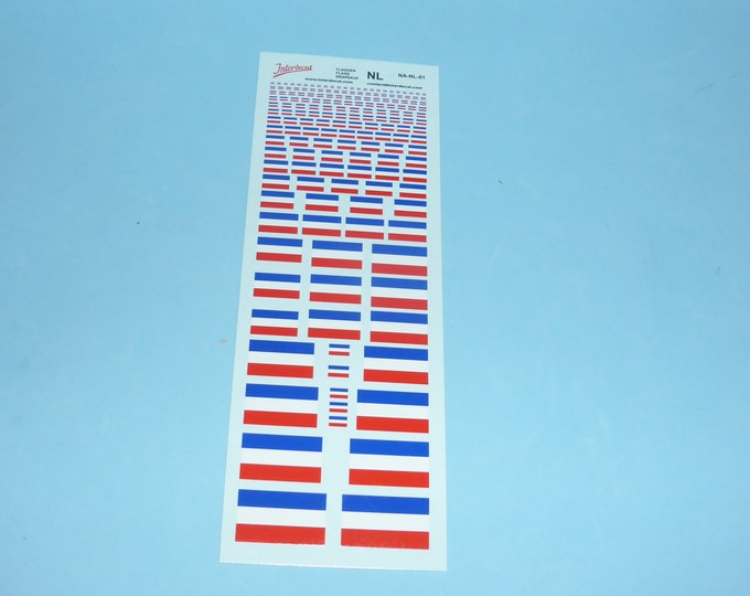 decals with Dutch flags various scales Tin Wizard NA-NL-01