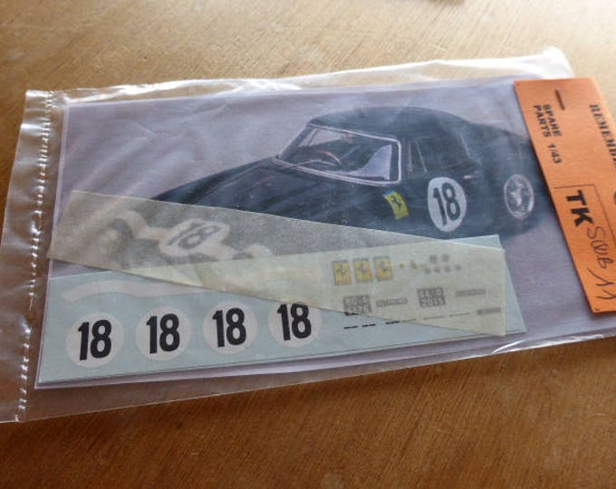 high quality 1:43 decals Ferrari 250 GT SWB Le Mans 1961 #18 Madyero by Remember TK-SWB11