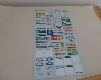 1/24 and 1/32 decals sheet for rally cars 7UP, El Charro, Honda, Rally Plaques, Clio Williams etc MM-DE02
