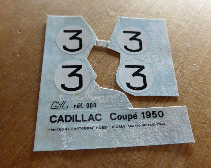 high quality 1:43 decals for AMR GYL 004 Cadillac Coupé Le Mans 1950 #3 incomplete original sheet [d-amr18]