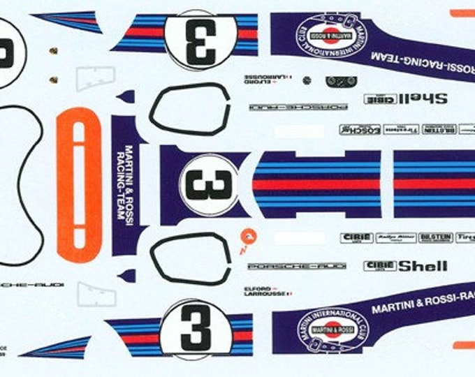 high quality 1:24 decals sheet Porsche 917K Martini 12h Sebring 1971 winner Le Mans Miniatures DCA124061