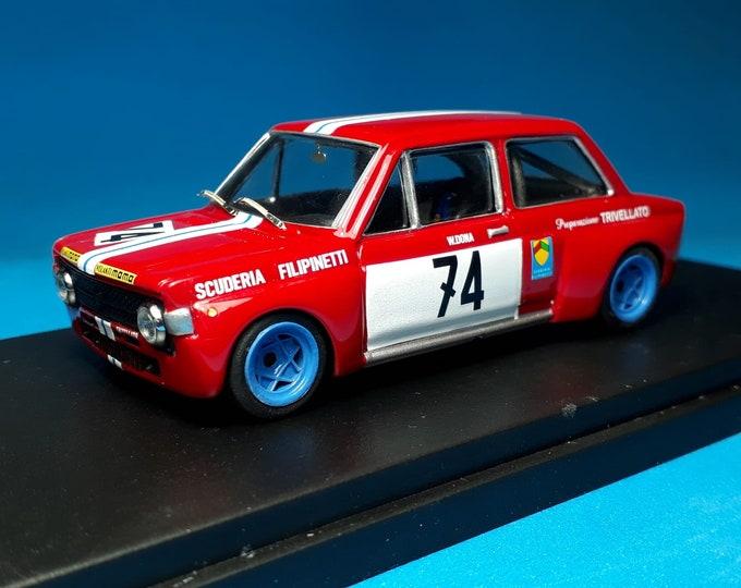 Fiat 128 1300 Gr.2 Scuderia Filipinetti Trivellato European Touring Car Championship Brno 1971 #74 Donà REMEMBER Models 1:43 Factory built