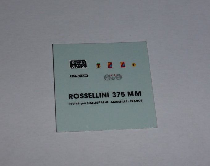 original Annecy AMR decals for Ferrari 375 MM chassis 0402AM Rossellini 1:43