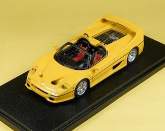 Ferrari F50 Spyder 1995 yellow 1:43 BBR Project 43 PJ78 built by Remember Models studio