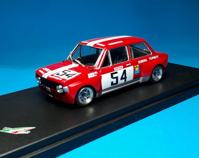 Fiat 128 1300 Gr.2 Scuderia Filipinetti Trivellato Paul Ricard 1972 #54 Albera/Coulon REMEMBER Models 1:43 Factory built