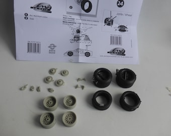 1:24 wheels, disc brakes and treaded tires for Chaparral 2F 1967 and other racing and GT cars Le Mans Miniatures ACW124016