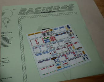 high quality 1:43 decals sheet with 1996 rally season Montecarlo, Sweden, Portugal etc RACING43 RD15