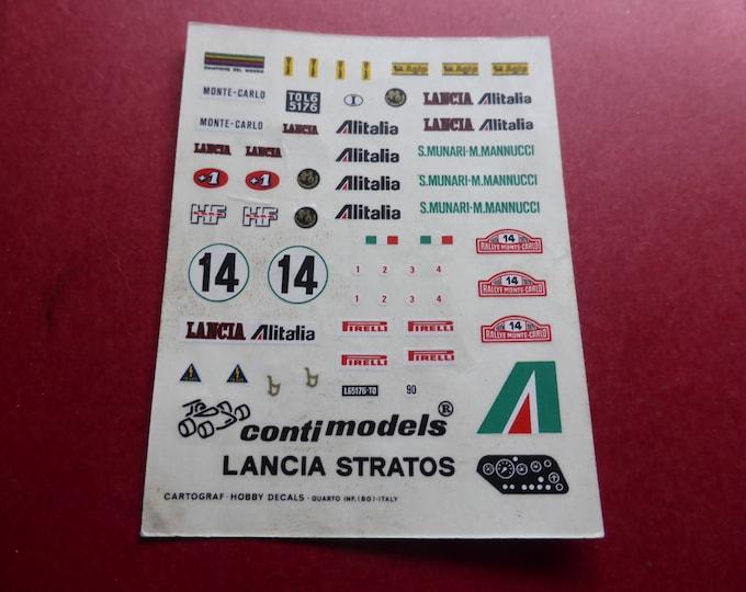 high quality 1:43 decals for Lancia Stratos Gr4 Alitalia Rally Montecarlo 1975 #14 Munari/Mannucci Cartograf printing for BAM