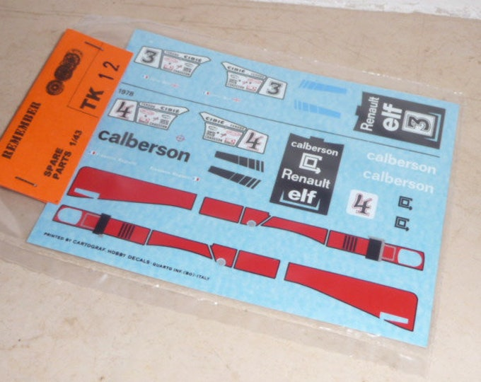 high quality 1:43 decals Alpine Renault A442b Calberson Le Mans 1978 #4 Remember TK12