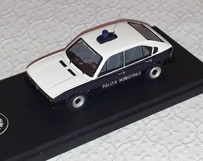 """Alfa Romeo Alfasud Mk.II Polizia Municipale di Roma (Rome metropolitan Police) Italy """"Nonomologati"""" (ex Gamma Models) 1:43 - Factory built"""