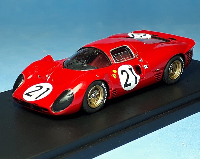 Ferrari 330 P4 chassis 0858 Le Mans 1967 #21 Scarfiotti/Parkes Tokoloshe by Remember TOK24 1:43 factory built