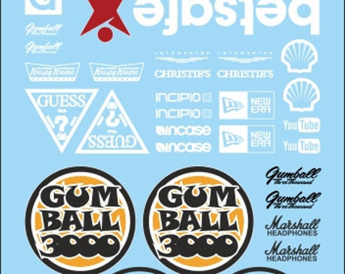 high quality decals sheet with 1:24 logos for street racing, drift and muscle cars Tin Wizard RA17-24